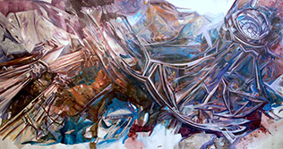 _01-Zahra-Nazari,-Melody-of-the-Oculus,-Federal-Hall,-80x150x30-inches,-Acrylic-on-Canvas,-$28,000